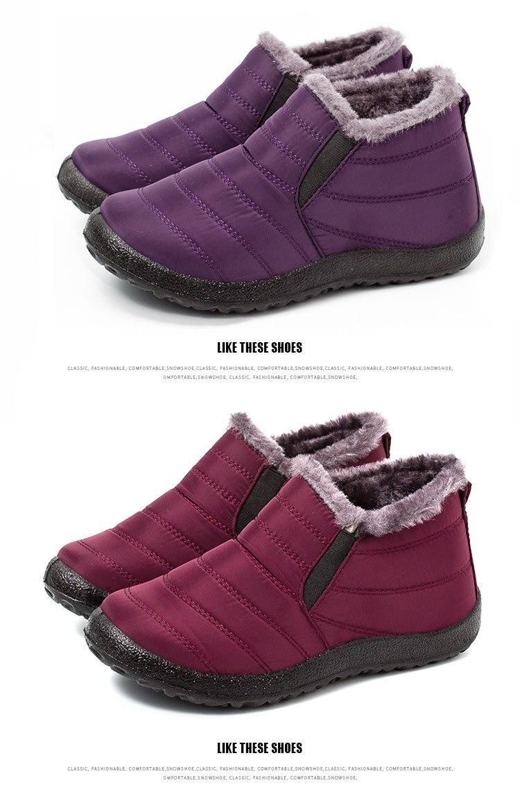 Lakeshi inverno quente botas de neve mulher