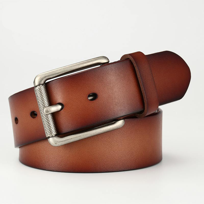 Men Causal High Quality Genuine Leather Belt Men New Fashion Simple Classic Vintage Style Pin Buckle Male Belt  90-125cm