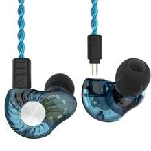 Revonext RX8 1DD+1BA Hybrid Headphone HIFI DJ Monito Running Sport Earphone Earplug Headplug
