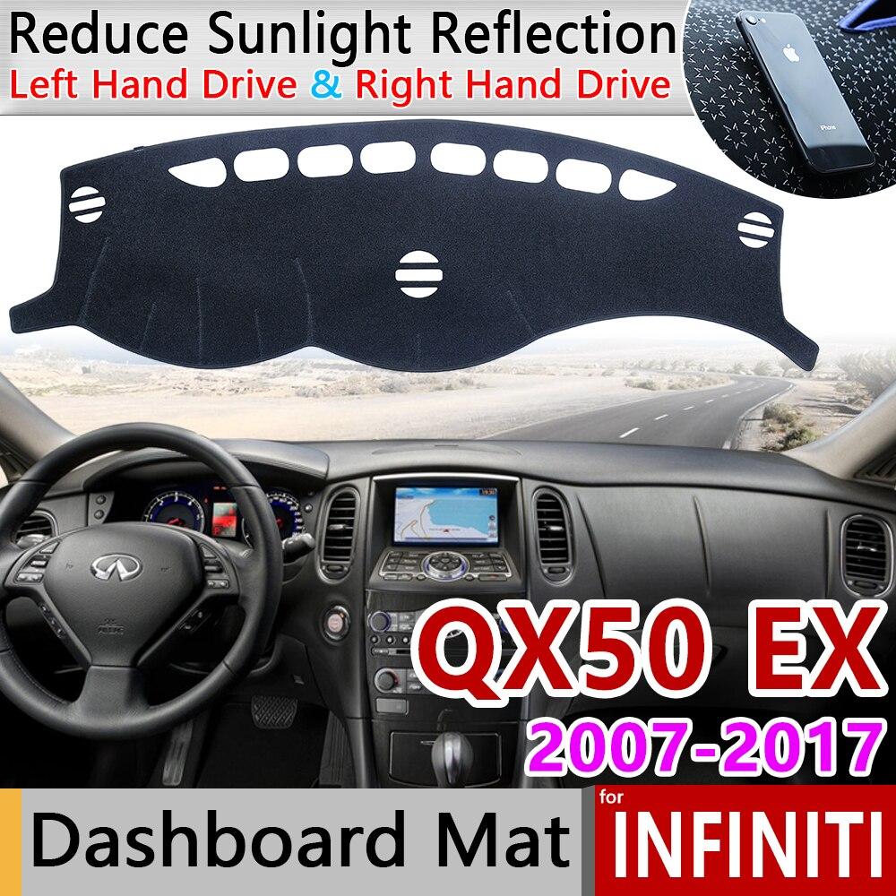 For Infiniti QX50 EX35 EX37 EX30d 2007~2017 J50 Anti-Slip Mat Dashboard Cover Pad Sunshade Dashmat Car Accessories Rug 2008 2009