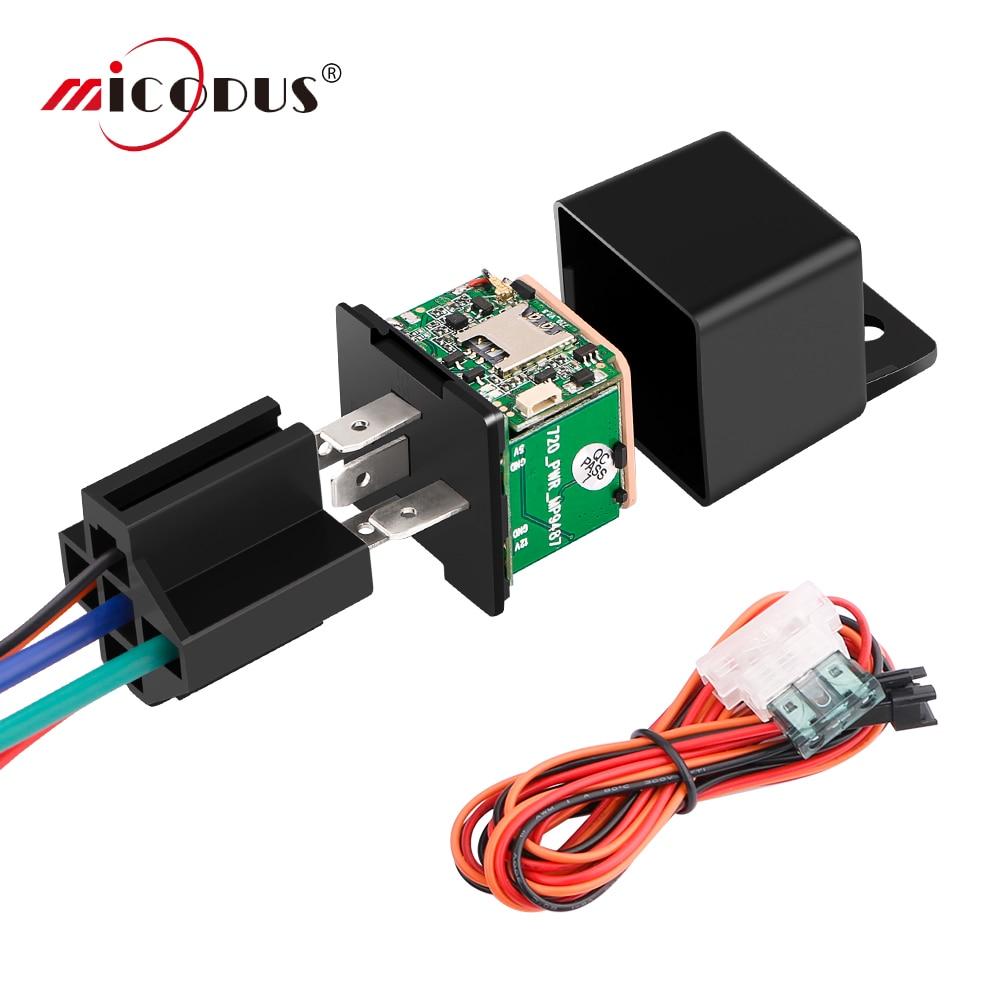 MiCODUS Relais GPS Tracker Auto MV730 9-90V Schnitt Kraftstoff ACC Erkennen Mini GPS Tracker Für Auto in echtzeit Track Vibrieren Alarm KOSTENLOSER APP