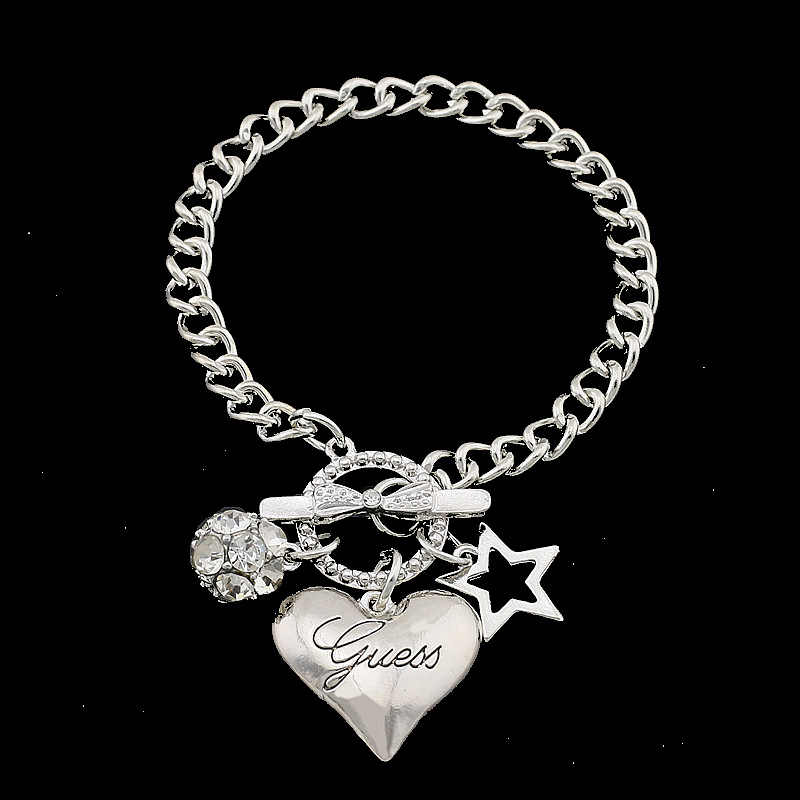 Hot Sale Love Heart Charms Bracelets For Women Gold Silver Color Bileklik Bracelet&Bangle Jewelry Europe American Style Jewelry