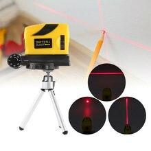 4 em 1 nível infravermelho automático do laser com 2 (1v, 1h) linhas transversais que cortam o nivelador vertical horizontal ajustável funcional do laser
