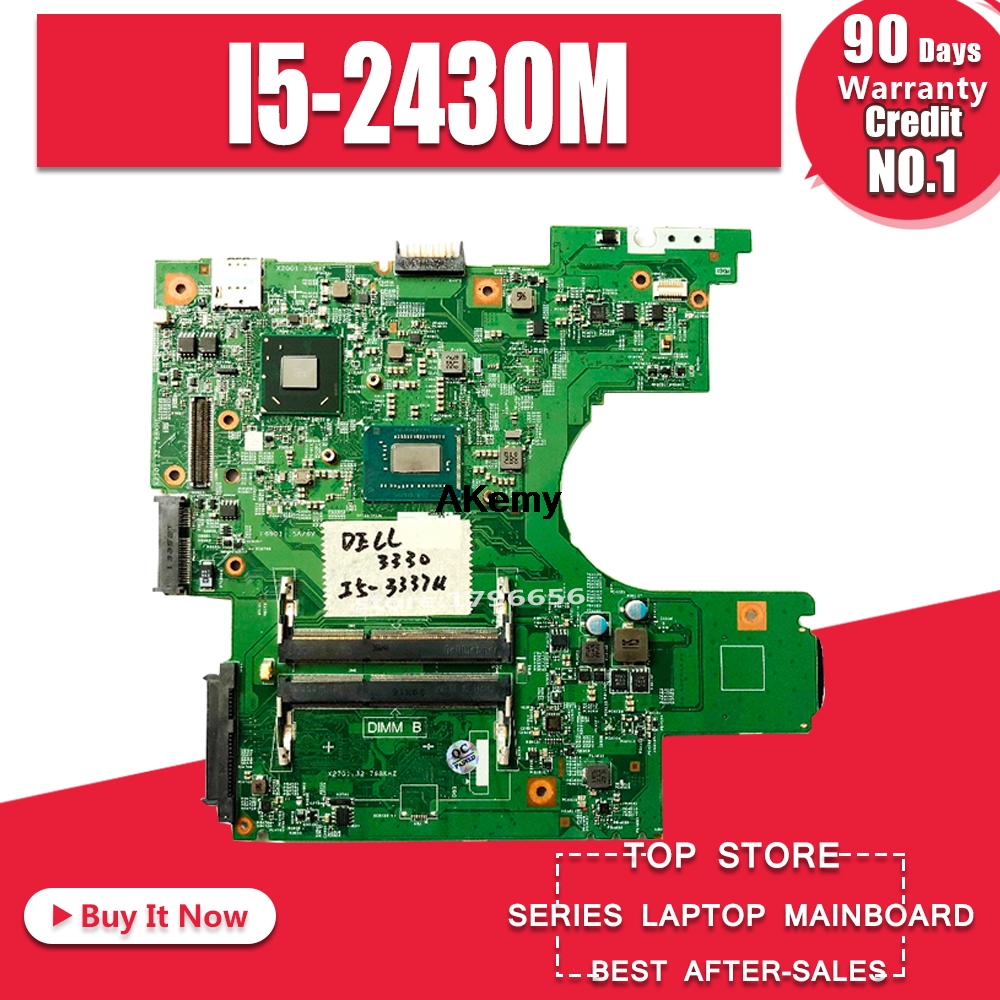 For DELL Latitude <font><b>3330</b></font> Laptop Motherboard <font><b>I5</b></font>-2430M CN-0NGGMN 0NGGMN NGGMN Tested 100% work image