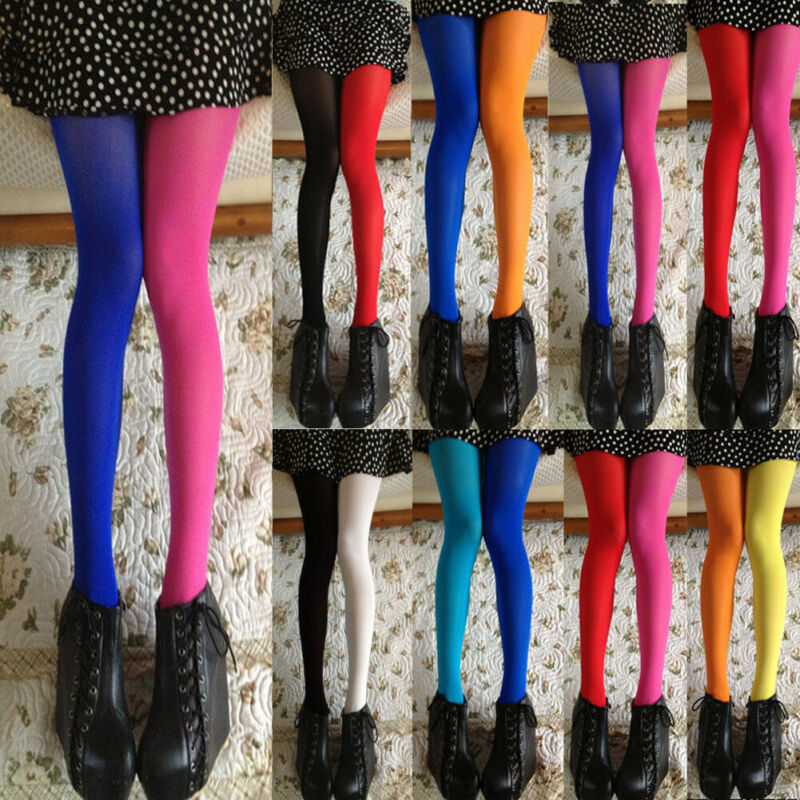 Sexy Women Patchwork Tights Stretchy Pantyhose Stockings Ladies Elastic Pantyhose Two-color Stitching Women Tights 3FS