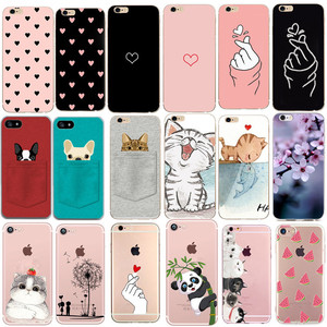 Case For Iphone 7 Cover Phone Accessories Couple Coque Capas For Iphone 8Plus Iphone5 5S SE 2 X XS 6 S 6S 7 8 Plus Cases Heart