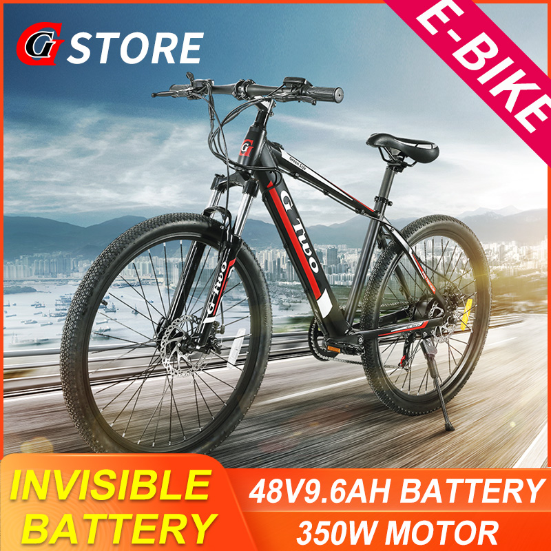 Permalink to GG 26inch 27.5Inch Electric Mountain Bike 48V9.6Ah Lithium Battery 350W SENSOR Electric Bike E-BIKE Shinano27s Electronic MTB