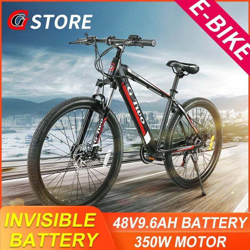 GG 26inch 27.5Inch Electric Mountain Bike 48V9.6Ah Lithium Battery 350W SENSOR Electric Bike E-BIKE Shinano27s Electronic MTB