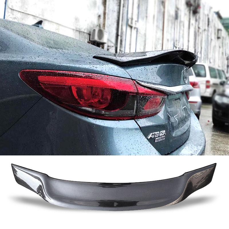 Aileron de coffre de voiture fibre de carbone FRP Auto aile de coffre arrière R Style accessoires Spoiler pour Mazda 6 M6 2014-2018