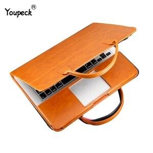 Image 1 - רב להשתמש 13 אינץ תיק מחשב נייד עבור ה macbook Air 13 עור מפוצל 12, 13.3, 15.4 אינץ מחשב נייד מקרה עבור MacBook Pro 13 PU נייד תיק