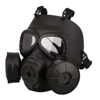 цена на M40 Double Fan Gas Mask CS Survival Game Paintball Match Helmet Tactical Capacetes De Motociclista Military Guard FMA Cosplay