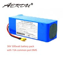 AERDU 36V 10S4P 11.6Ah 250W-300W-500watt lithium-ion battery pack for ebike bicycle scooter wheelbarrow with 15A common port BMS