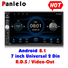 Panlelo 2 Din Android 8.1 Car Player 7 inch 1080P GPS Navigation Audio Radio Multimedia With RDS Video Out