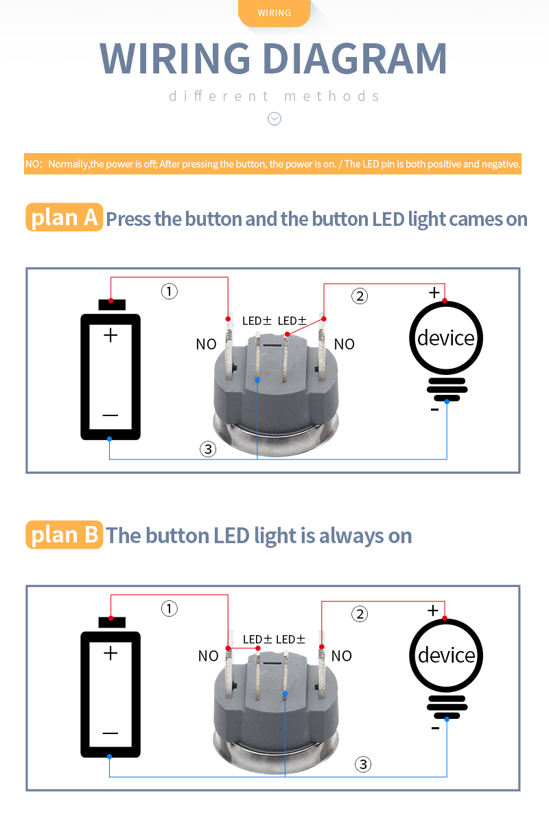 H2dfebda181a94ec9afab02570e90c6b5F - 16mm High current 15A metal stainless steel button switch  pressing momentary switch self-recovery and self-locking 12V24V220V