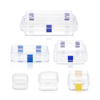 Membranowe pudełeczko na ząbki przezroczyste protezy korona futerał do przechowywania przezroczysty z tworzywa sztucznego pudełka membranowe z folią tanie i dobre opinie JIN GUANG Przechowywanie protezy CN (pochodzenie) Polymer plastic Transparent blue 20pcs
