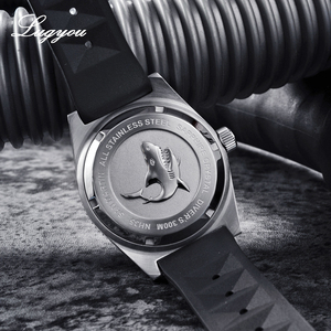 Image 4 - Lugyou San Martin 62Mas Diver Mechanical Automatic Men Watch Stainless Steel NH35 Ceramic Bezel Rubber Band Sapphire Glass