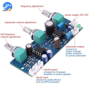 Image 5 - NE5532 Stereo przedwzmacniacza przed płyta wzmacniacza Audio 2 kanały moduł wzmacniacza sterowania na telefon przedwzmacniacza HIFI moduł Amplificador