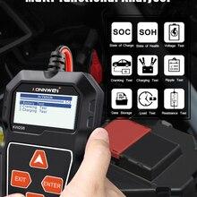 KONNWEI KW208 Батарея Тесты er Автомобильный цифровой 12V 100-2000CCA вращение зарядки Системы Тесты инструмент автомобильных Батарея Ёмкость Тесты er