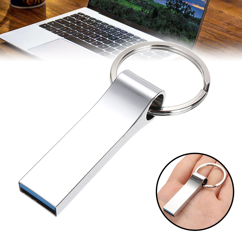 1pc New 2TB Flash Drive Disk USB 2.0 Memory Stick Flash Thumb Pen Drive Computer Connectors U Disk With Keychain Accessory