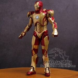 Image 4 - アイアンマンマークmk 42ゴールドアイアンマンpvcアクションフィギュアコレクタブルモデル玩具