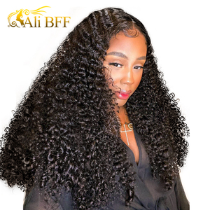 13*6 Kinky Curly Wigs For Women 180% Density Curly Lace Frontal Wig ALI BFF HD Lace Curly Wig Full Lace Front Human Hair Wigs(China)