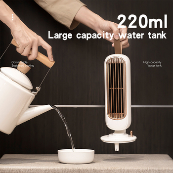 цена на Retro Eletric Humidifying Fan Hydration USB 220mm Water Spray Fan Electroplating  Portable Desk Three-speed switch Fan