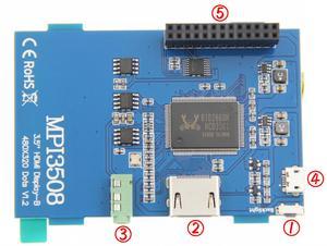 Image 5 - 3.5 pouces LCD HDMI USB écran tactile réel HD 1920x1080 écran LCD Py pour framboise 3 modèle B / Orange Pi (jouer à la vidéo de jeu) MPI3508
