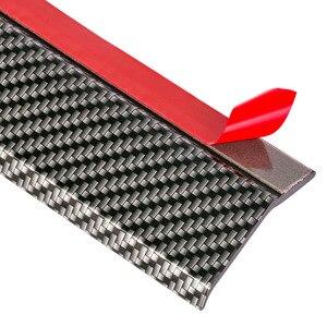 Image 5 - 2.5m zderzak samochodu ochraniacze Splitter Body zestawy Spoiler zderzaki zderzak drzwi samochodu Carbon Fiber Rubber Lip 65mm szerokość taśmy