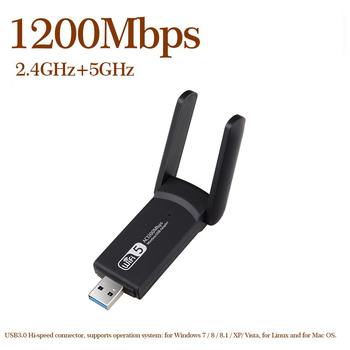 1200Mbps 2.4G 5G Dual Band Wireless USB Wifi Adapter Free Driver Lan USB Ethernet Wi-fi Network Card Wifi Dongle usb 3 0 wifi wireless network card 1200mbps 802 11 b g n free driver lan adapter antenna for laptop pc mini wi fi dongle