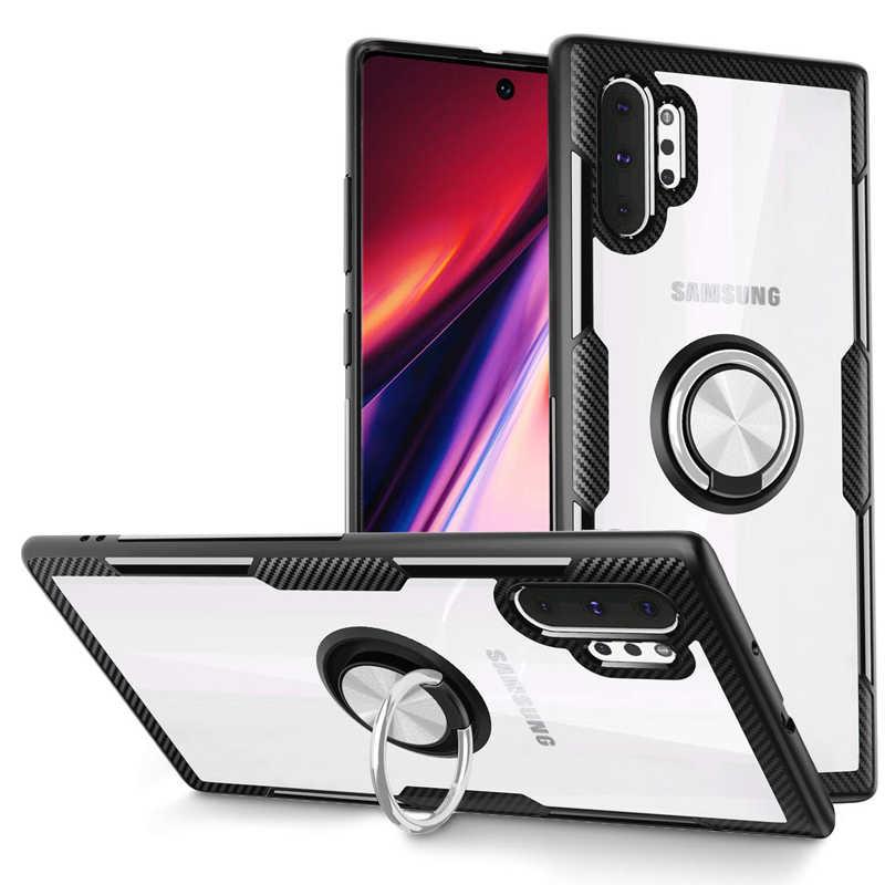 Dành Cho Samsung A50 A30 A70 A10 A20 M30 M20 M10 S10 S9 Plus Ốp Lưng Trong Suốt Siêu Mỏng Nhẫn Ốp Lưng dành Cho Samsung Galaxy Samsung Galaxy Note 10 Pro