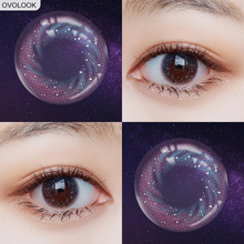 OVOLOOK-2pcs/pair Contact Lenses Galaxy Eye Color Lens 3 Ton