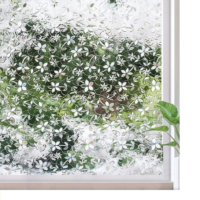 Window Self-adhesive Film 3D Static Decoration Window Sticker, for UV Rejection Heat Control Energy Saving Privacy Glass Sticker 1