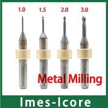 1pcs Imes-Icore Milling Burs for Milling Metal Materials like Titanium and CoCr Disc 5pcs 2 0mm dental imes icore cad cam diamond coated burs