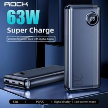 ROCK 20000mAh Power Bank with LED Digital Display 63W PD QC3