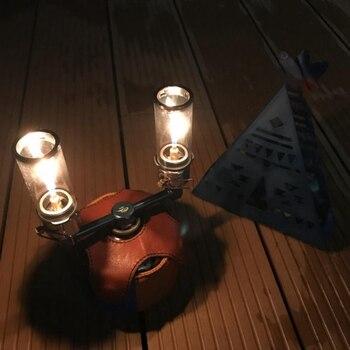 Açık kamp lambası Ultralight taşınabilir gaz lambası açık yürüyüş turist çadır gece ışıkları kamp gaz fener