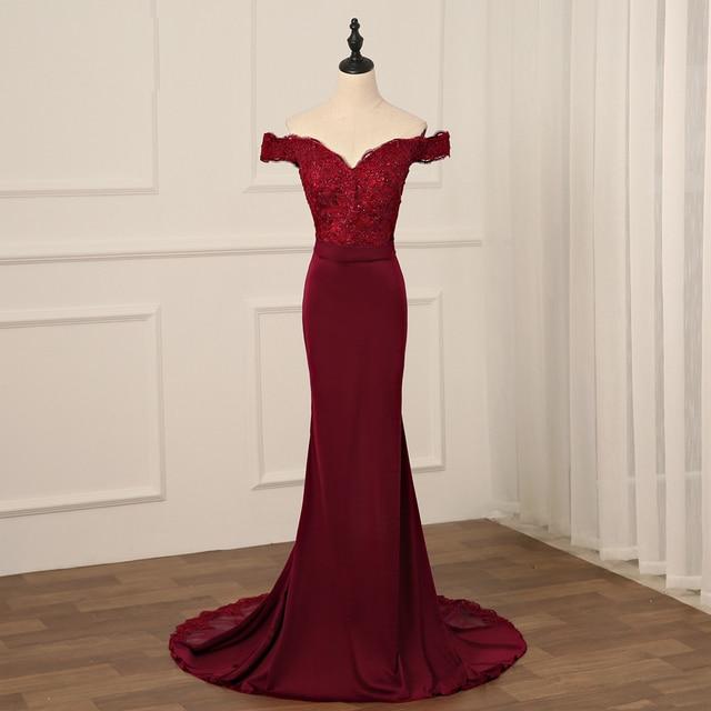 Сексуальное бордовое вечернее платье Jiayigong, Длинные вечерние платья с открытой спиной, кружевное платье Русалка с бисером для невесты