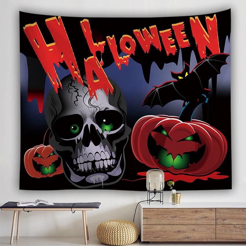Серия Хэллоуин настенный гобелен из ткани корзинка для Хэллоуина Ужасный Призрак напечатанный настенный гобелен Grand скатерть вечерние украшения