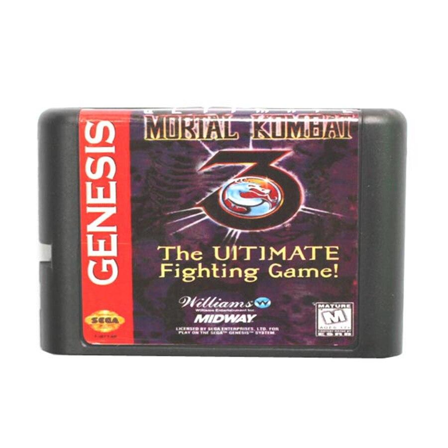 Mortal Kombat 3 The Ultimate Fighting Game 16 Bit Game Card For Sega Mega Drive Sega
