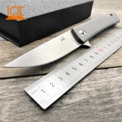 LDT TG02 Folding Knife S35VN Blade Titanium TC4 Handle Camping Tactical Outdoor Knives Steel bearing Survival Hunting EDC Tool