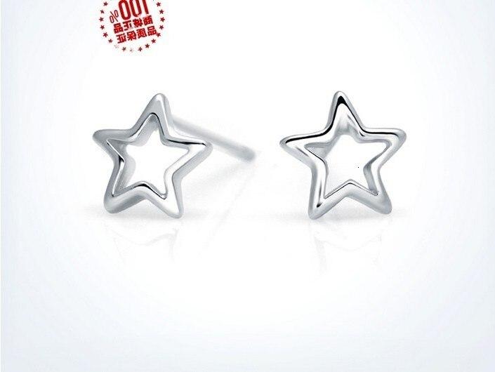 Blanc 50 paires boucles d'oreilles étoile/+ 50 paires jaune or hexagone boucles d'oreilles étoile