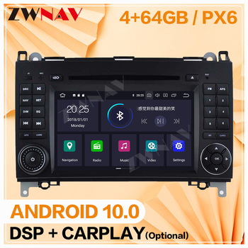 2 din For Mercedes Benz B200/B-class/W245/B170 Android 10 player Auto video audio Radio GPS IPS navigation head unit auto stereo image