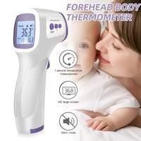Muti fuction Baby/Adult LCD Digital Thermometer Infrared Forehead Body Thermometer Non contact Temperature Measurement Device