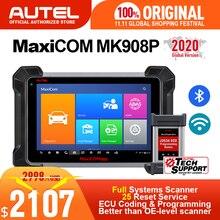 Autel maxicom mk908p ms908p automotivo ferramenta de diagnóstico obd2 scanner todo o sistema ecu programação j2534 programador pk maxisys elite
