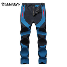 Facecozy Mens Outdoor Trekking Pants Quick Dry Hiking Camping Fishing Climbing Elastic Sports Trousers Male Waterproof