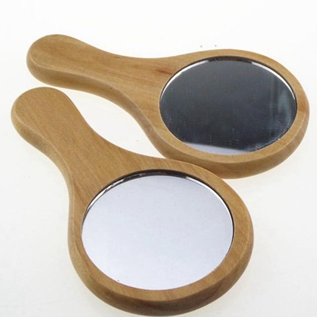 Фото зеркало из натурального дерева деревянное ручное зеркало винтажное цена