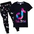 Комплект одежды для девочек, комплекты одежды для малышей для девочек Tik Tok, повседневные комплекты одежды из 2 предметов спортивный набор од...