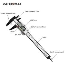 цена на 100mm 150mm Electronic Digital Caliper 6 Inch Carbon Fiber Vernier Caliper Gauge Micrometer Measuring Tool Digital Ruler