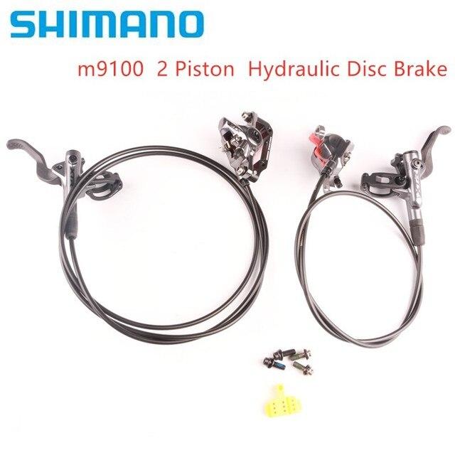 Shimano xtr m9100 2 pistão m9120 freio 4 pistão mountain bike xtr freio a disco hidráulico mtb gelo tecnologia melhor m9000