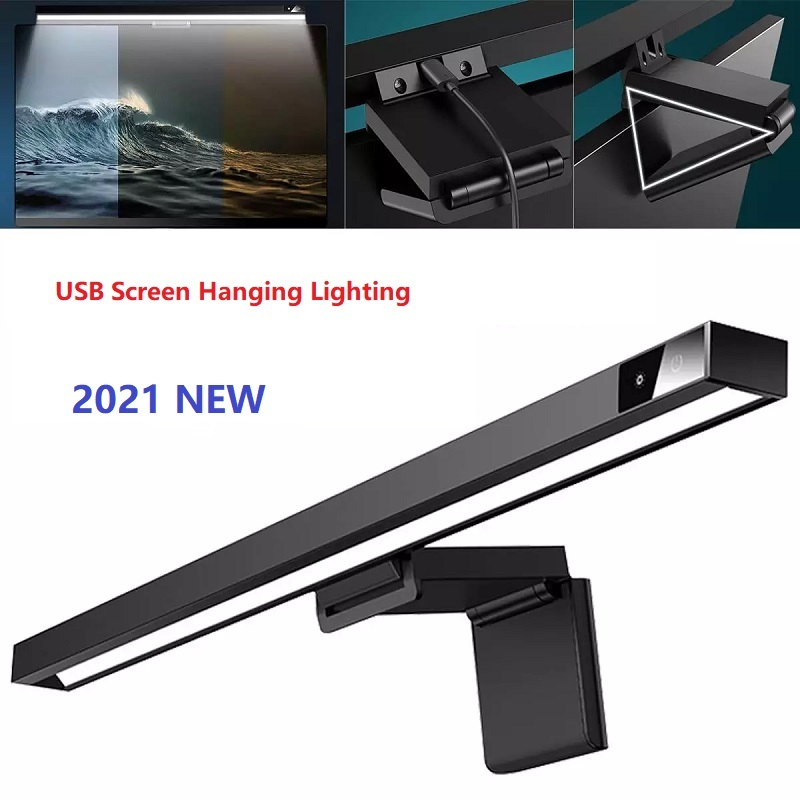 1Pcs Stepless Dimming Eye-Care LED Desk PC Lamp For Computer PC Monitor Screen bar Hanging Light LED Reading USB Powered Lamp