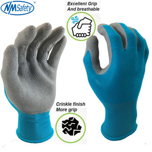 Image 3 - NMSafety Garden Working Gloves for Men or Women with Colorful Polyester Black Foam Latex Safety  Protective Gloves